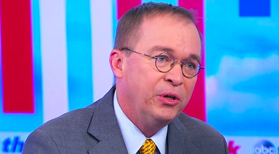 Chief of Staff Mulvaney blames Chuck Schumer for Trump's lie that other US presidents support the border wall