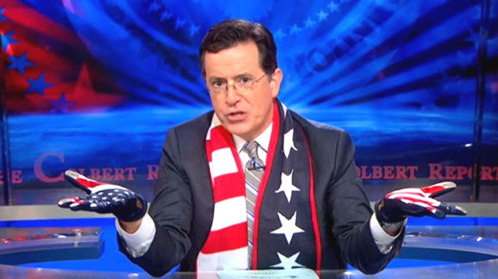 Stephen Colbert welcomes Hispanics to the white race if they agree to be conservative males