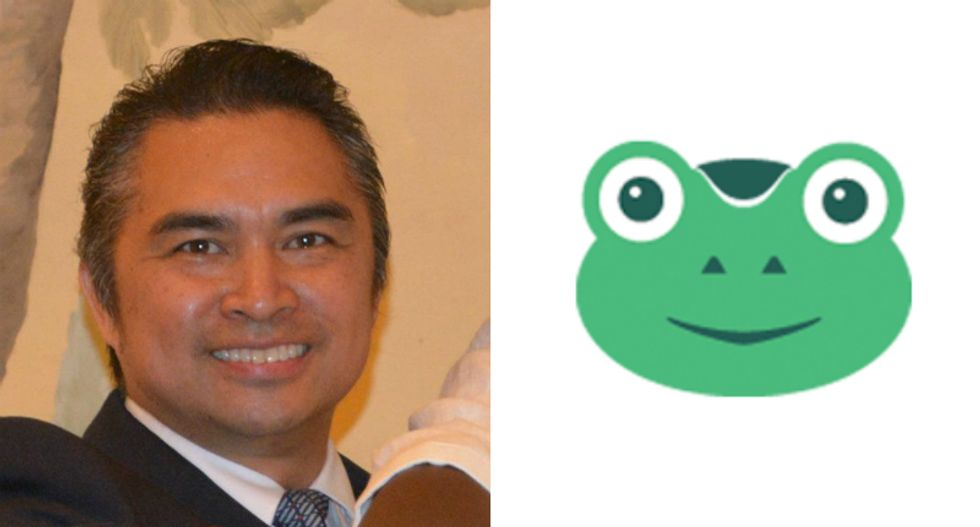Maxine Waters' GOP challenger is advertising his campaign on Gab, the Pepe-themed social network