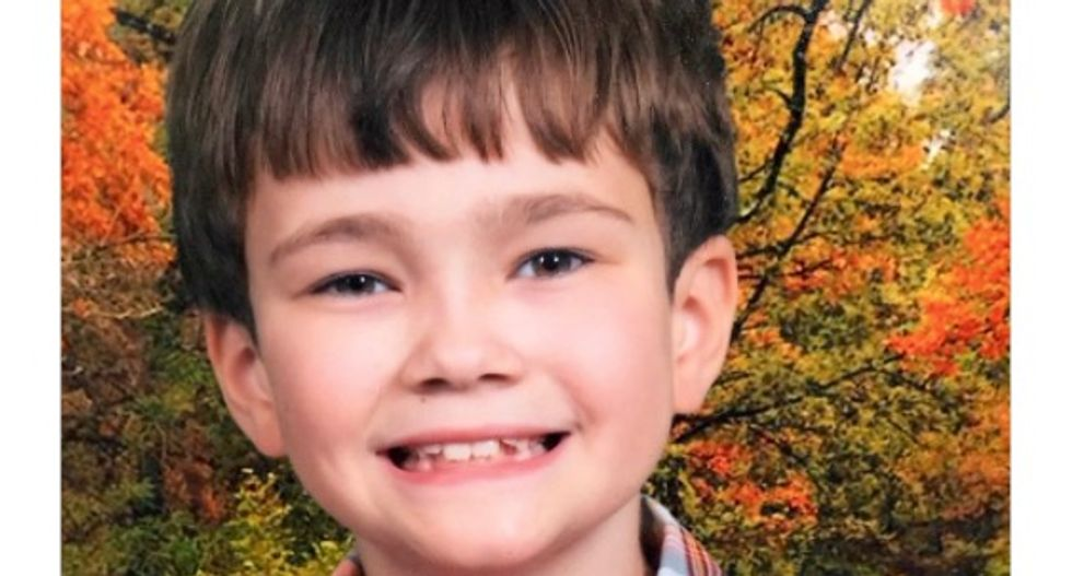 A boy's slow strangling death was foreshadowed by his mom's crazy messages on the walls