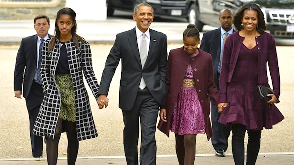 Obamas want daughters to work minimum wage jobs, as they did, to build character