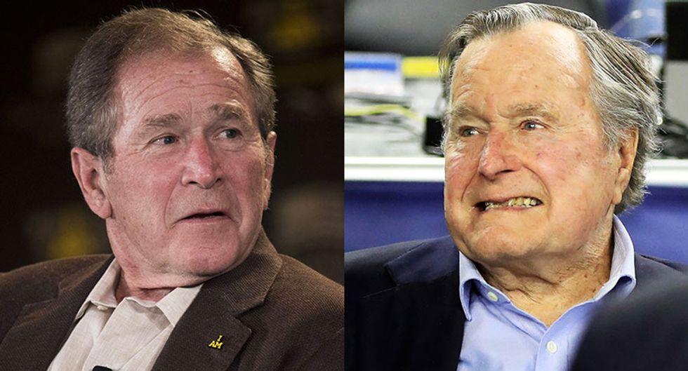 Both Bush presidents bash 'blowhard' Donald Trump as unfit for the presidency
