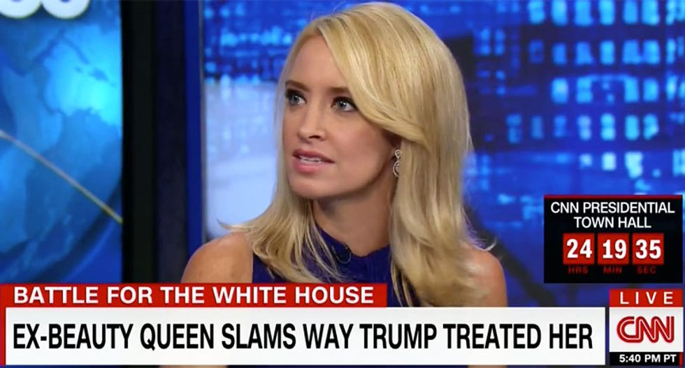 Kayleigh McEnany smears Trump-exposing Miss Universe Alicia Machado by comparing her to a terrorist