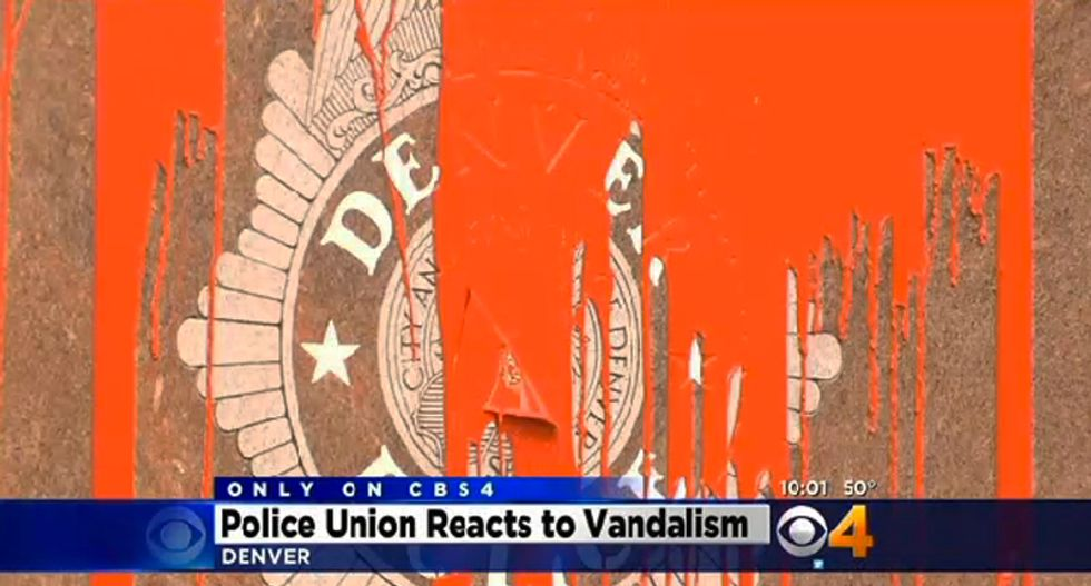 Denver police union calls for chief's ouster after protesters allowed to vandalize memorial