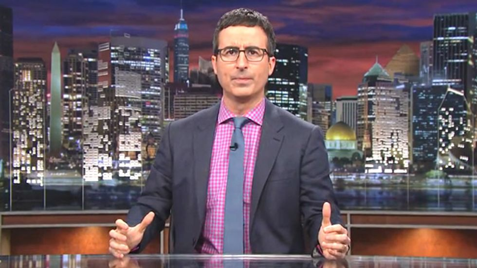 John Oliver doesn't care who runs for president: 'All of them would be, tragically, good for comedy'