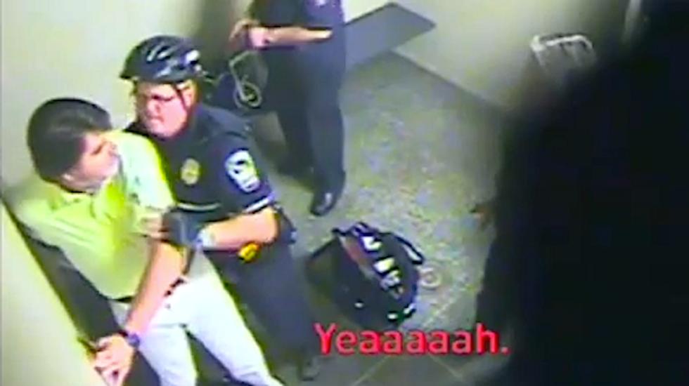 WATCH: Airport cops rough up drunken Fox News anchor Gregg Jarrett during arrest