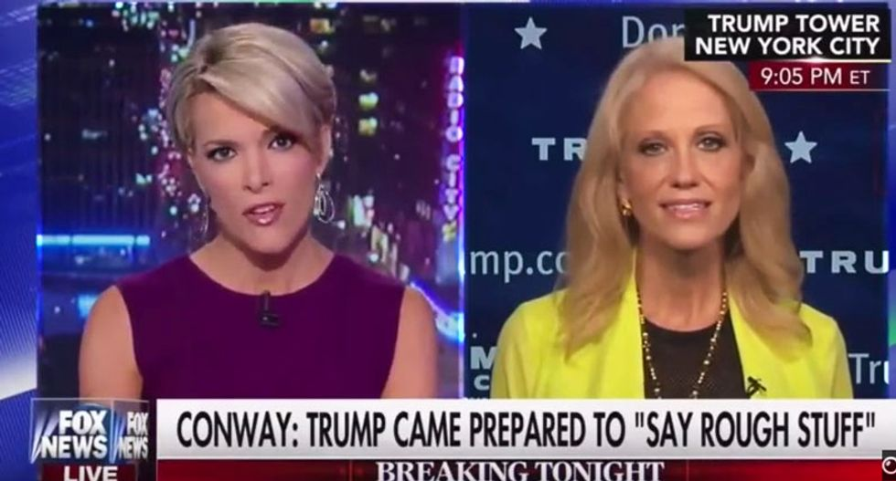 Megyn Kelly lectures Kellyanne Conway like a child for whining that Hillary isn't playing 'nice'