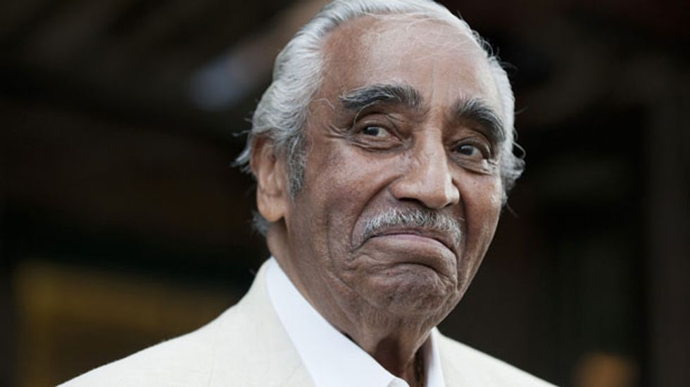 New York Rep. Charles Rangel faces voters in congressional primary