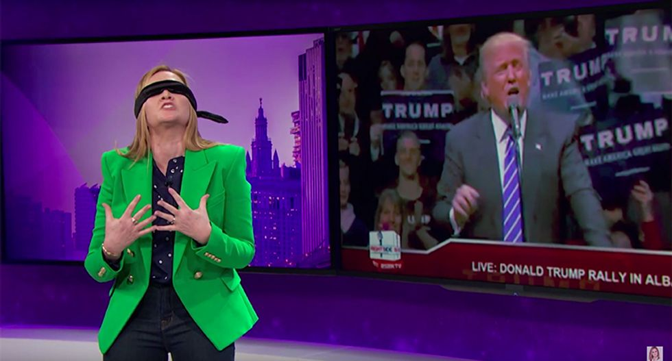 Samantha Bee mocks Trump's NY campaign: 'Give us your muddled asshole yearning to scream free'