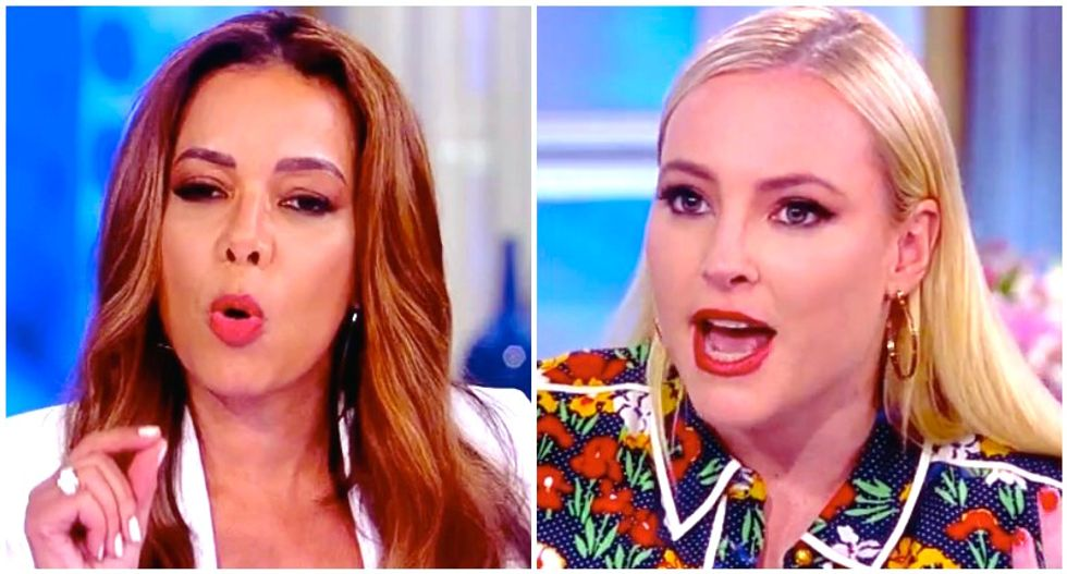 The View's Sunny Hostin clashes with Meghan McCain over mocking Trump officials in restaurants