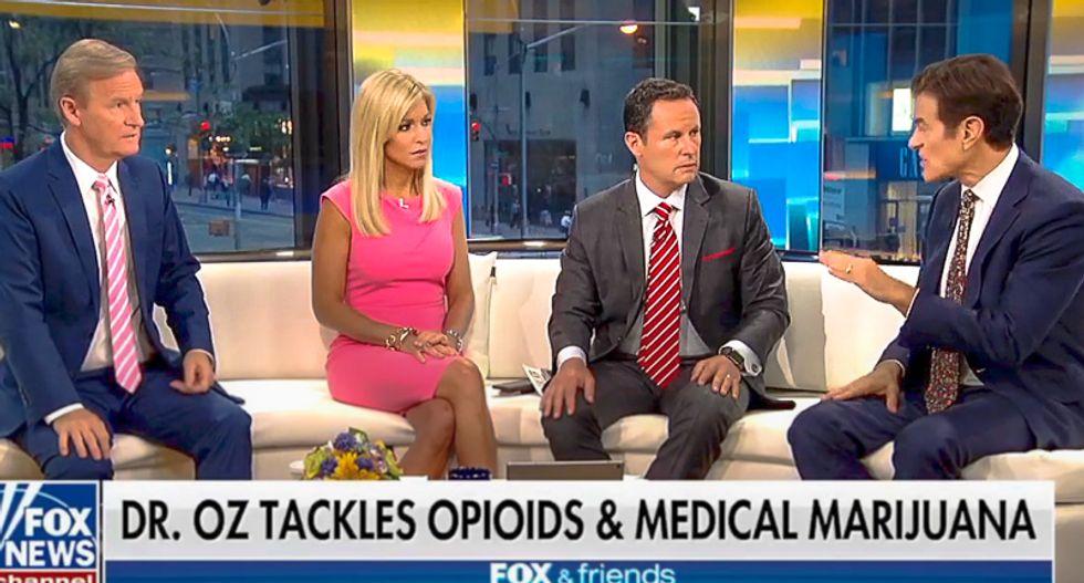 'Wow': Dr. Oz leaves Fox & Friends horror-struck by springing pro-marijuana rant as segment ends