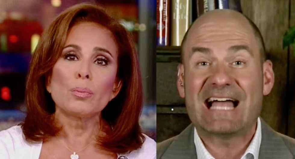 Fox News host Jeanine Pirro screams about why Sarah Sanders should get fried chicken while gays can't get wedding cakes