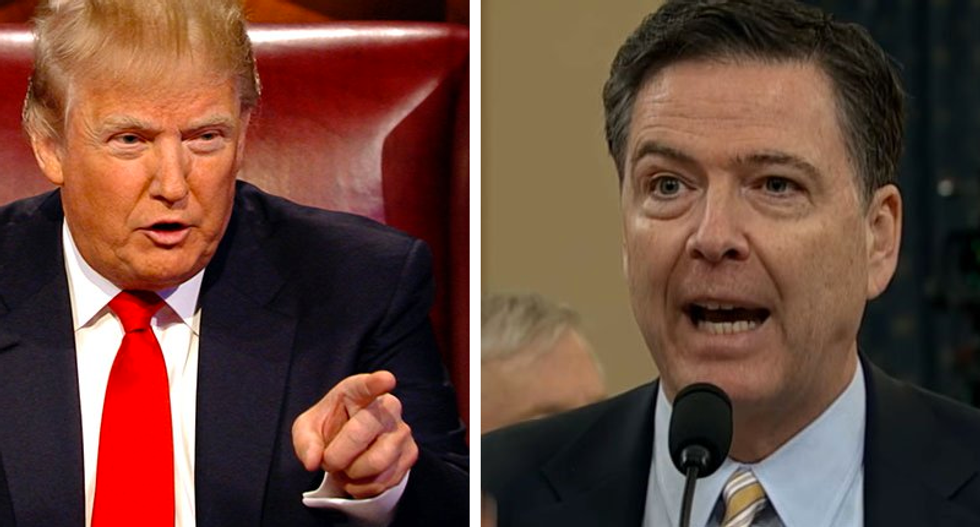 Comey tweets his support for FBI director Wray after he threatened to quit amid pressure from Trump's AG