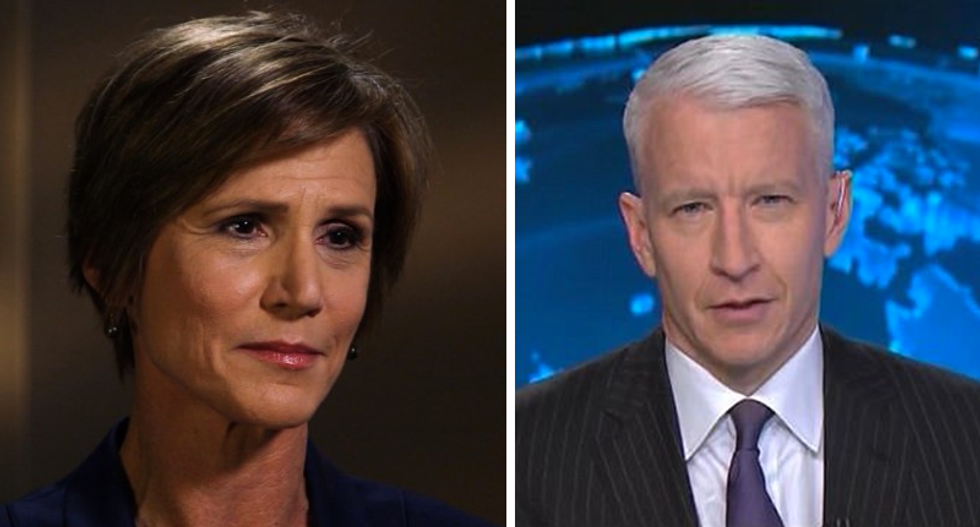 WATCH LIVE: CNN's Anderson Cooper interviews fired acting AG Sally Yates