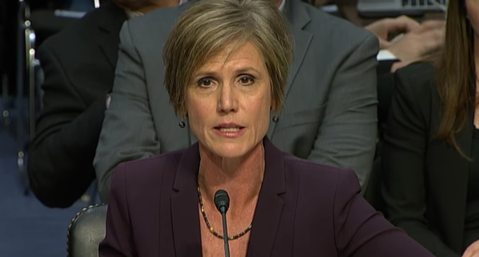 Sally Yates calls for uprising of Americans to 'stand up, speak out' and relocate 'core values'
