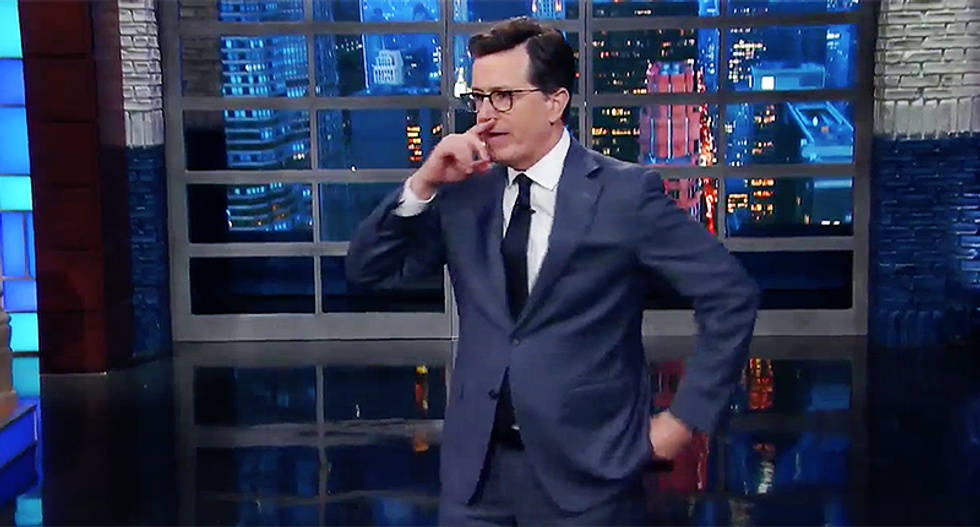 'Got any more tapes of you and Billy Bush?': Stephen Colbert offers Trump a way to distract from Comey memos