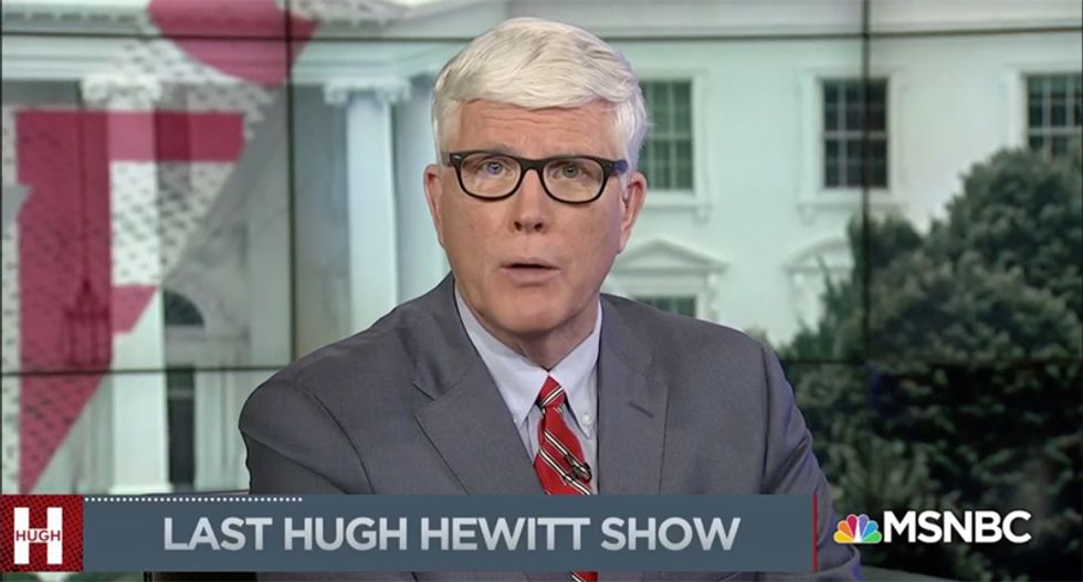 Conservative Hugh Hewitt makes surprise announcement MSNBC has pulled plug on his show