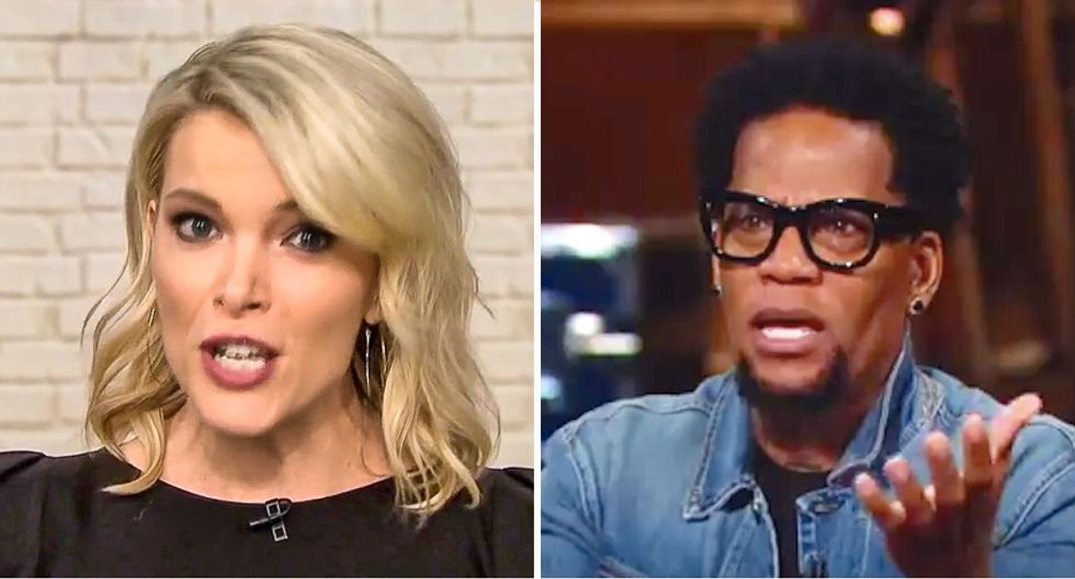 Activist D.L. Hughley uses the 'benign racism' of NBC host Megyn Kelly to explain why cops get away with shooting blacks