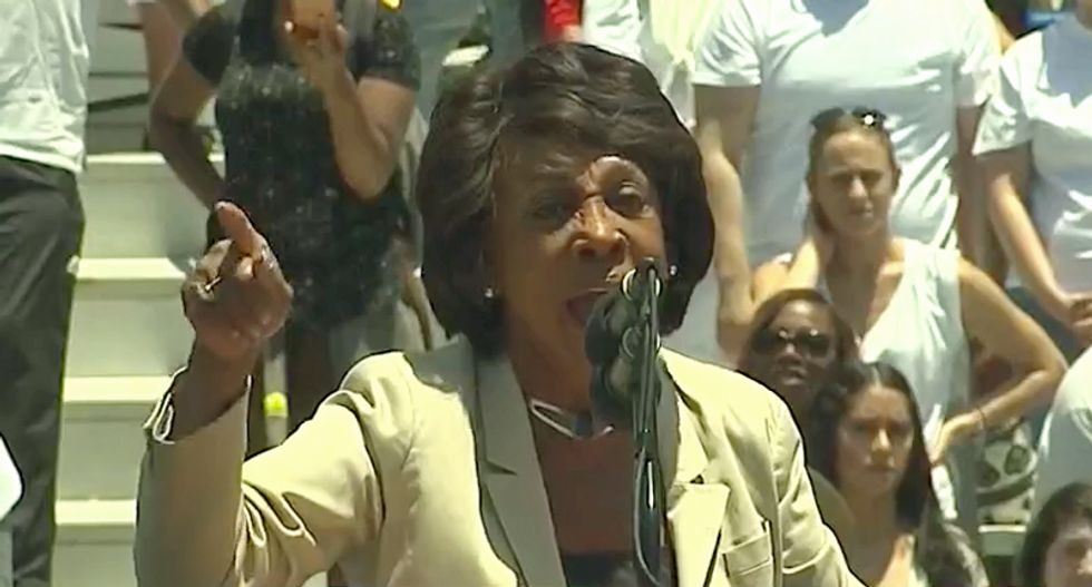 Watch a defiant Maxine Waters blast threatening Trump supporters: 'If you shoot at me, you better shoot straight'