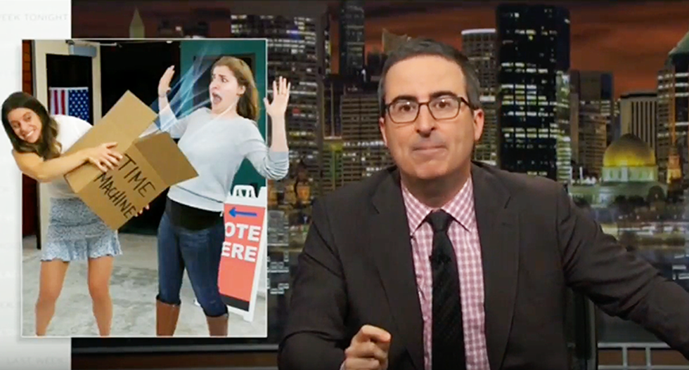 John Oliver wants you to unload all of your anger and frustration into one scream in people's face if they don't vote in 2018