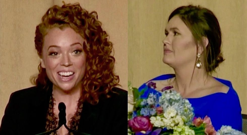 'Cousin Huckabee' looked like she was going walk out of WHCD as Michelle Wolf roasted her: CNN analysts