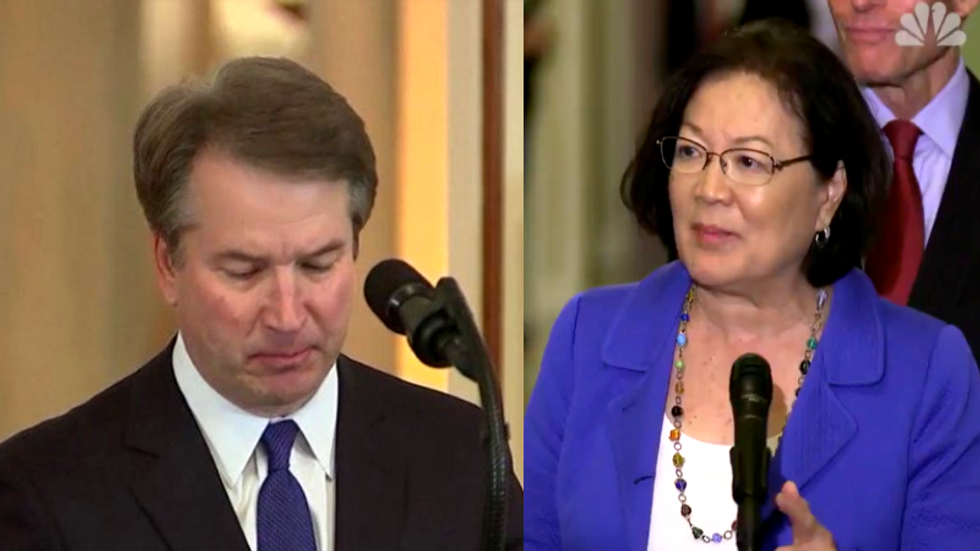 'Just shut up!': Dem Senator unloads on men in the midst of Brett Kavanaugh's sexual assault scandal