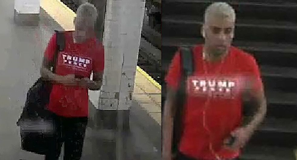 Trump fan wanted for slugging a man while out promoting the conspiracy website InfoWars: police