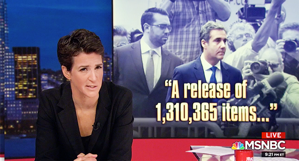 MSNBC's Maddow explains Cohen is following the same pattern as Gates and Flynn before they flipped