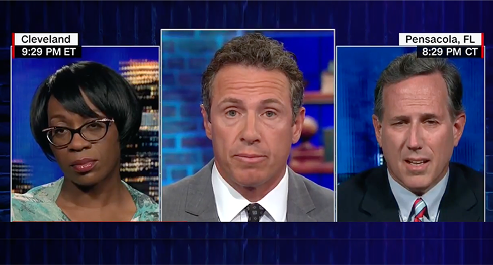 'You knew what you were doing': CNN's Cuomo hammers Rick Santorum when he tries to dodge immigration questions