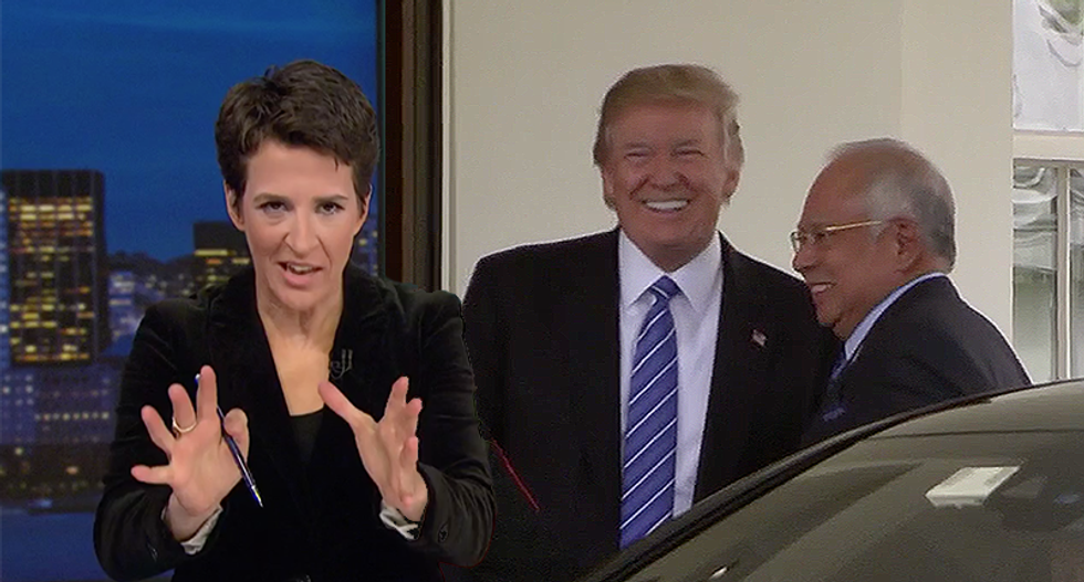 Rachel Maddow mocks Trump for trying to stop the Michigan count while he's losing