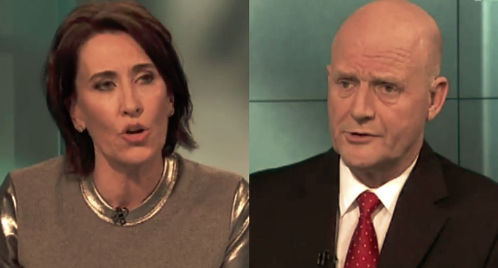 Woman journalist slams a sexist libertarian politician by asking why he's being so 'b*tchy'