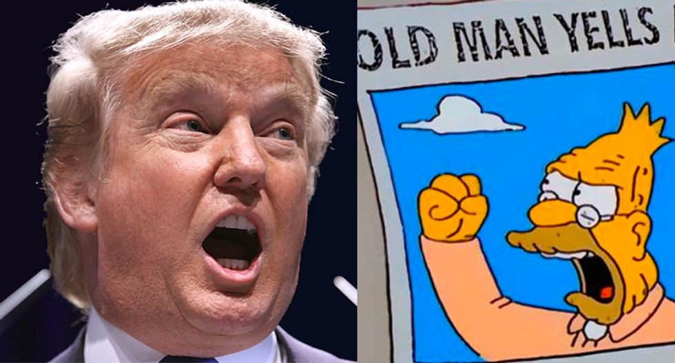 Internet scorches 'old man' Trump for ordering immigrant families to 'get off his lawn'