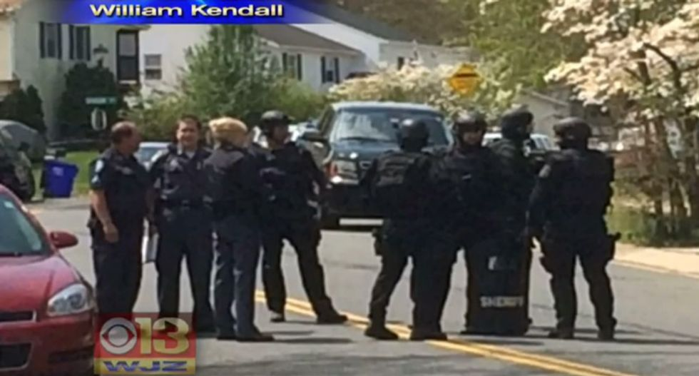 Baltimore police set up barricade during hostage situation at fast-food restaurant