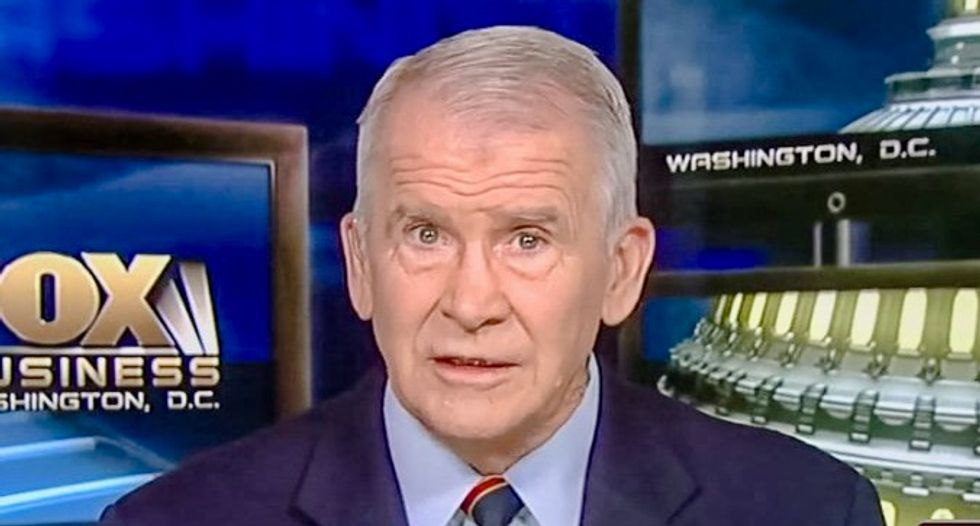 Oliver North blamed 'culture of violence' for school shootings -- but he helped sell violent 'Call of Duty' game