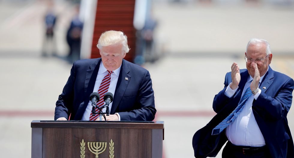 Trump, in Israel, says he has new reasons to hope for peace