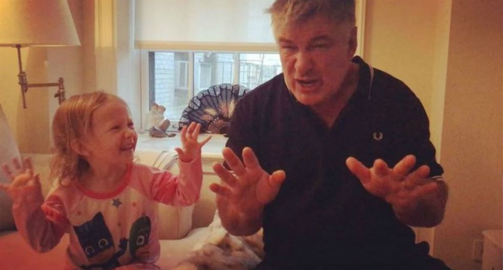 WATCH: Alec Baldwin teaches his 3-year-old daughter how to do a hilarious Trump impression