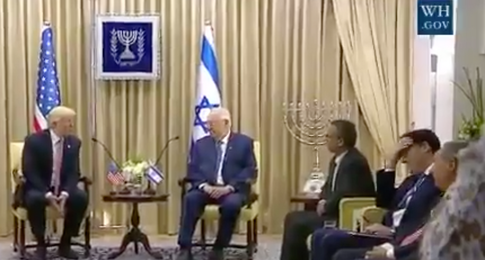 WATCH: Israeli ambassador visibly flummoxed when Trump implies Israel is not in the Middle East