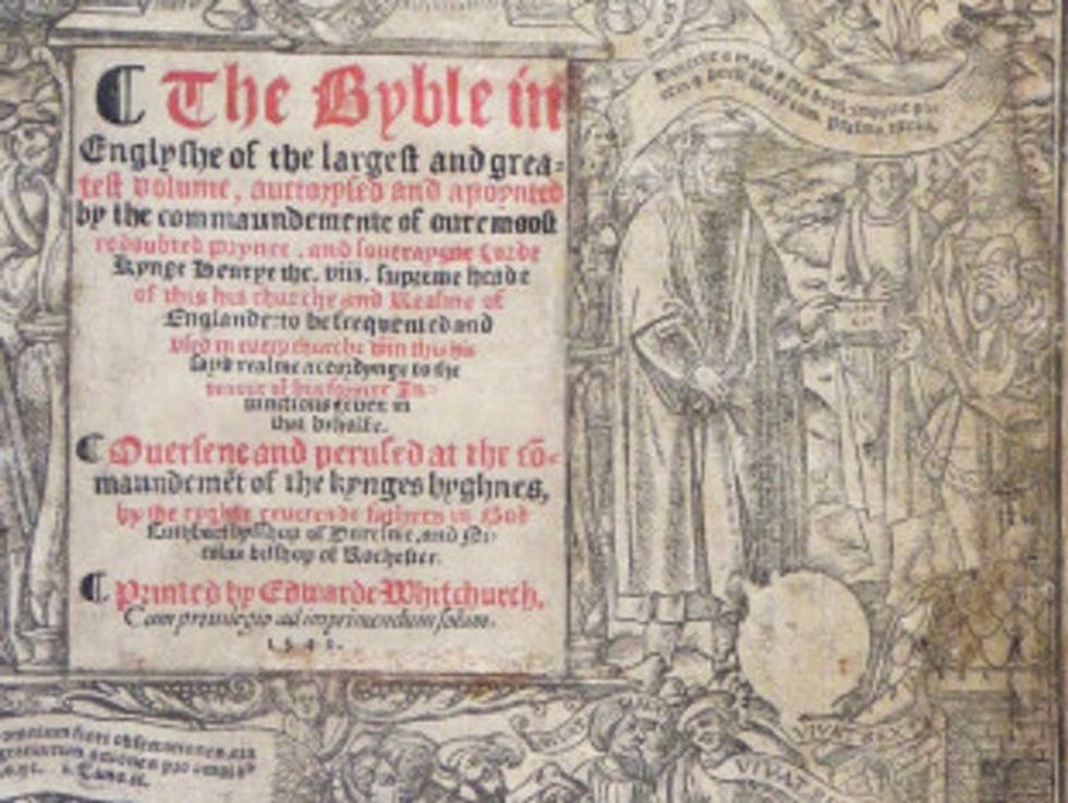 Black and white image of title page with coat of arms blanked out.