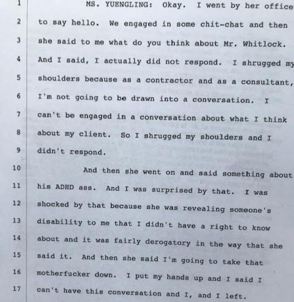 Renee Yuengling's testimony