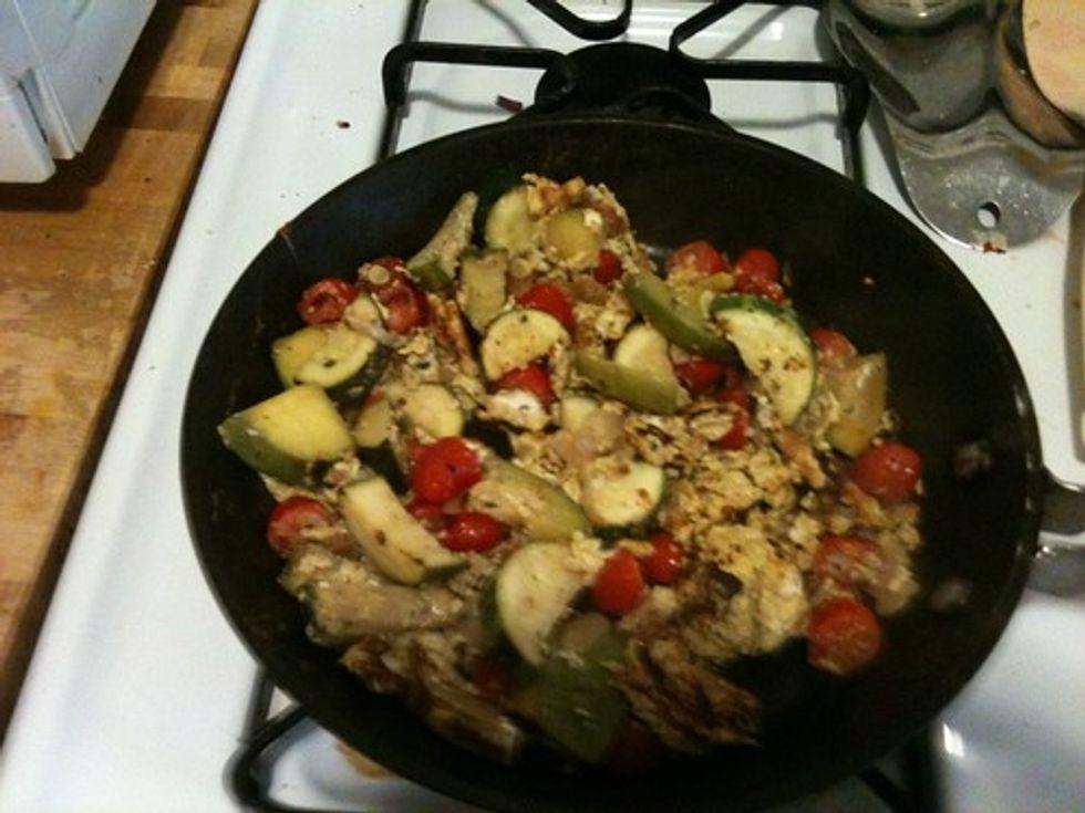 Squash omelet