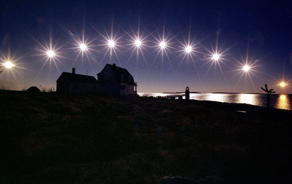 Winter solstice sun
