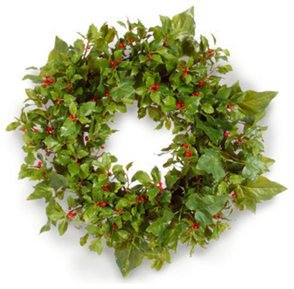 Christmas - holly-ivy wreath