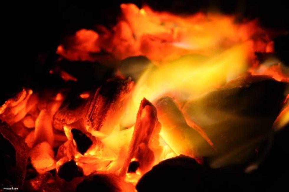 Christmas - hearth fire