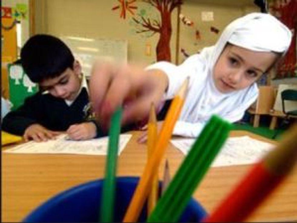 Muslim school kids