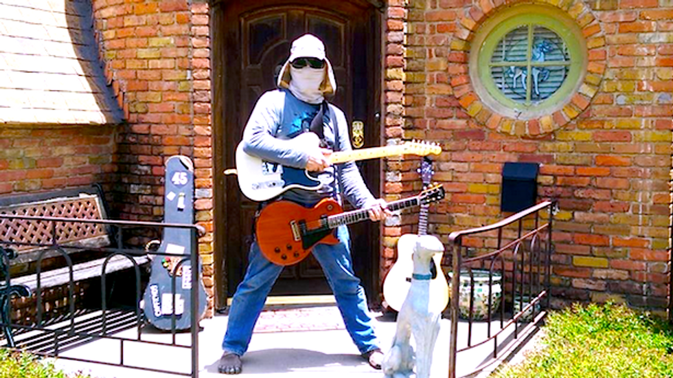 Don't shred on me: TX music lovers mock gun enthusiasts with Open Carry Guitar Rally