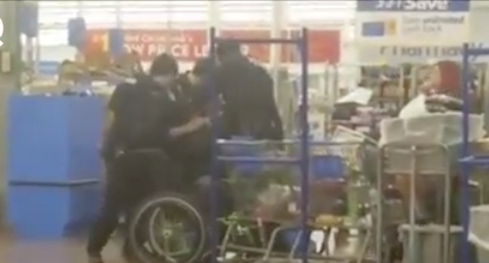 Disturbing video shows cops pepper-spraying veteran point blank for not getting out of mobility scooter