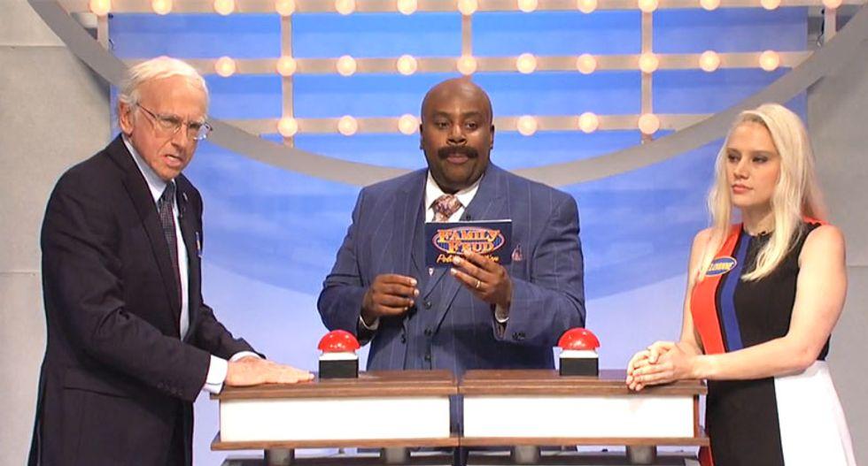 WATCH: Larry David returns as Bernie Sanders in brilliant SNL Clinton vs Trump 'Family Feud'