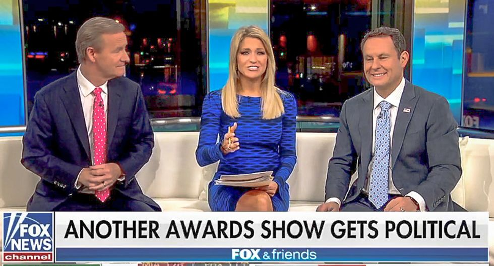 Fox & Friends goes haywire after CMA Awards mock Trump: 'Isn't country music supposed to be conservative?'