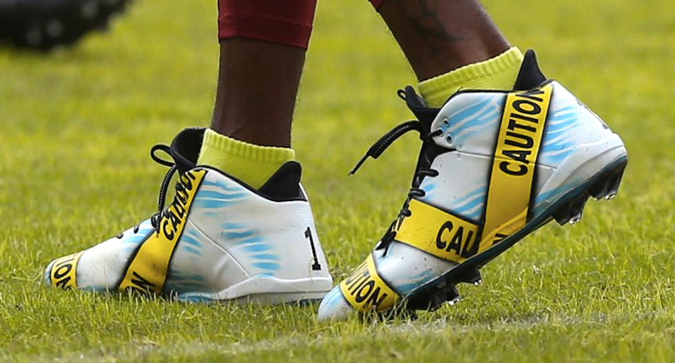 NFL's DeSean Jackson makes statement against police brutality with custom shoes