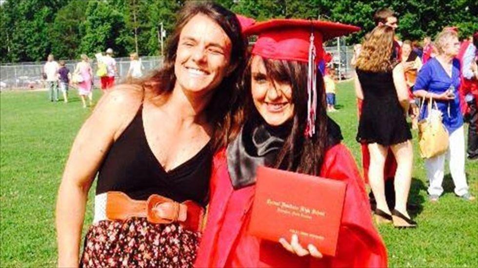 North Carolina mom dons daughter's dress deemed too short by high school officials
